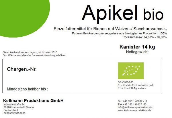 APIKEL BIO Bienenfutter (14 kg/ Kanister)-1268