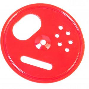 Runder Fluglochschieber Plastik rot -0