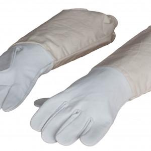 Lederhandschuhe grau-0