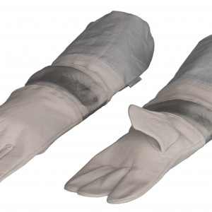 Lederhandschuhe mit Doppelwulst -0