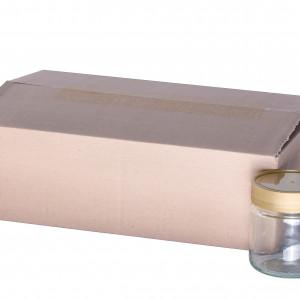 Neutrales Schraubglas 250g im Karton-0
