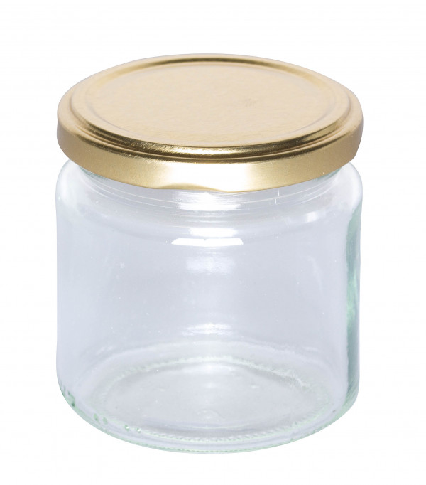 """Twist Off Rundglas 250 g im Karton """"gold""""-1123"""