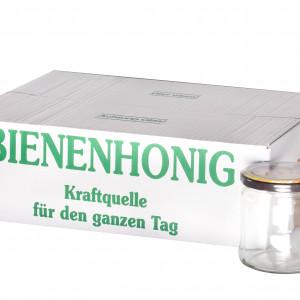 """Twist Off Rundglas 500g im Karton """"Bienenmotiv""""-0"""